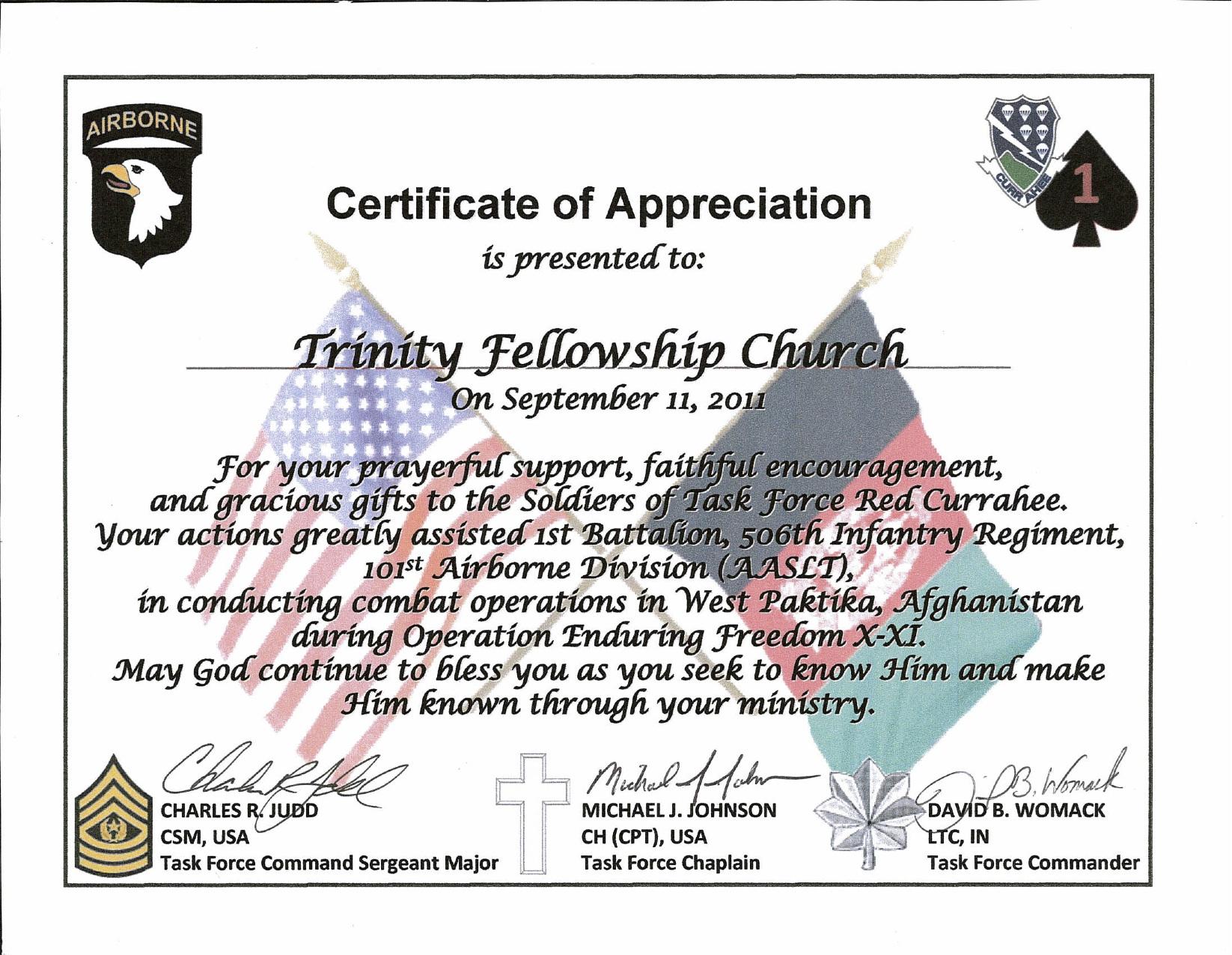 Pastor Appreciation Certificates Printable
